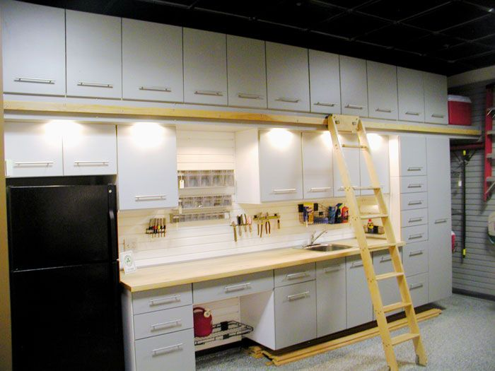 Custom Garage Storage Cabinets And Slat Wall Storage Systems Shamrock  Cabinet Has Designed A Line Of