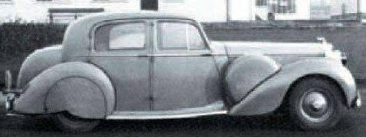 Chassis 11-B-V (1939) Experimental Saloon The Scalded Cat by Park Ward, scrapped in 1953