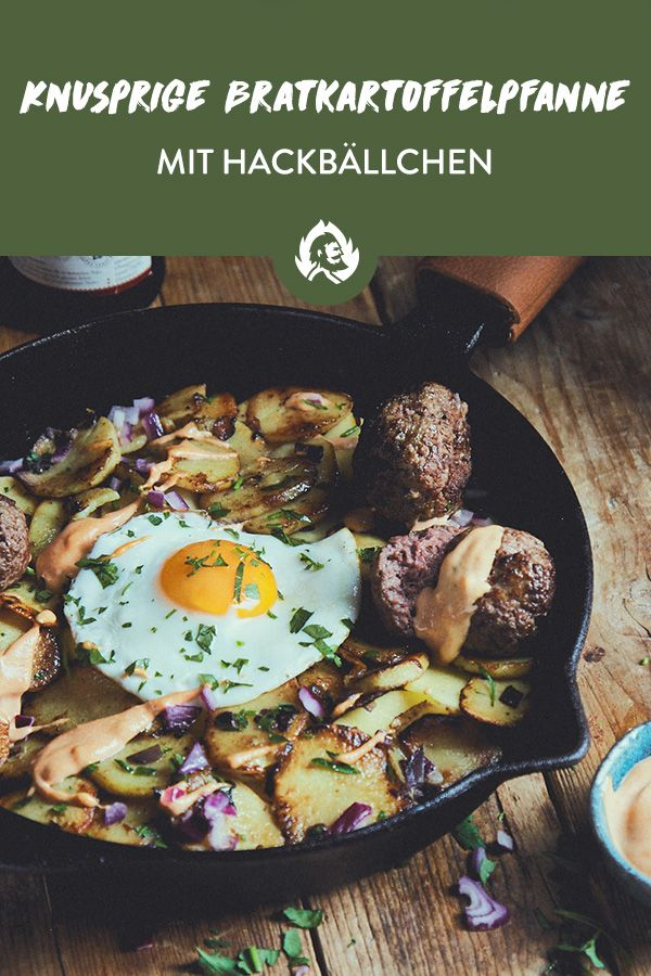 Photo of Recipe for crispy fried potatoes with meatballs from …