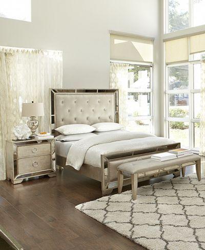 Ailey Queen 3 Pc Bedroom Set Bed Nightstand Chest Decor