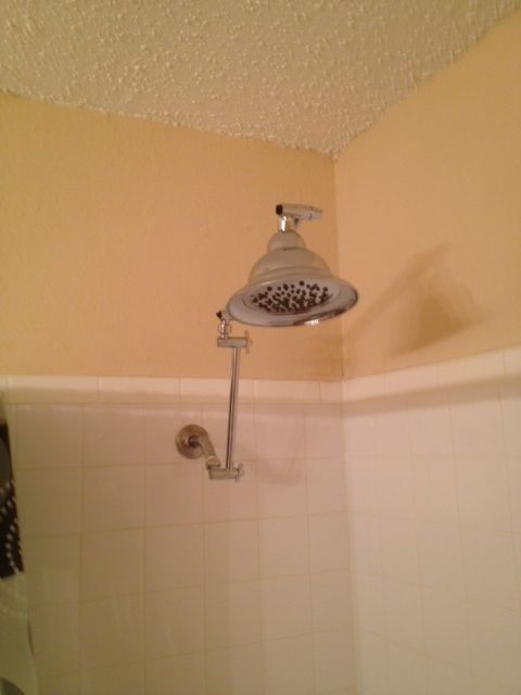 A must for tall people that take showers.A shower head