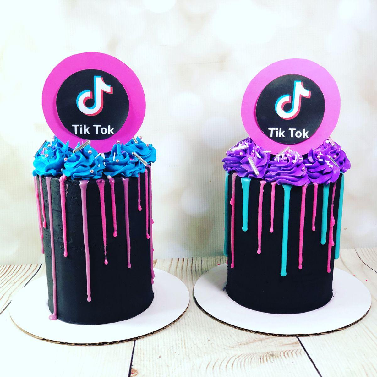 Twin 4 Tall Tiktok Cakes Birthday Cakes For Teens 13th Birthday Cake For Girls Cute Birthday Cakes