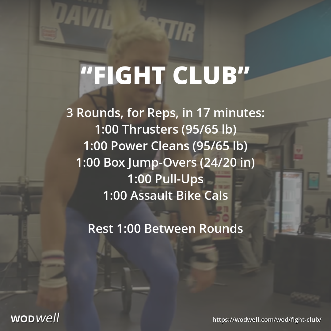 Fight Club Wod Wod Workout Wod Crossfit Assault Bike Workout
