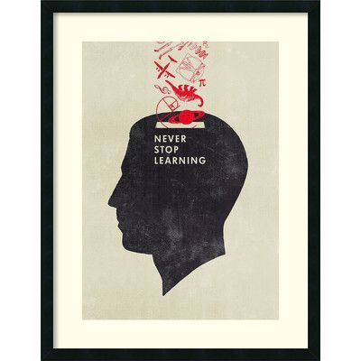 Amanti Art Never Stop Learning by Hannes Beer Framed Painting Print