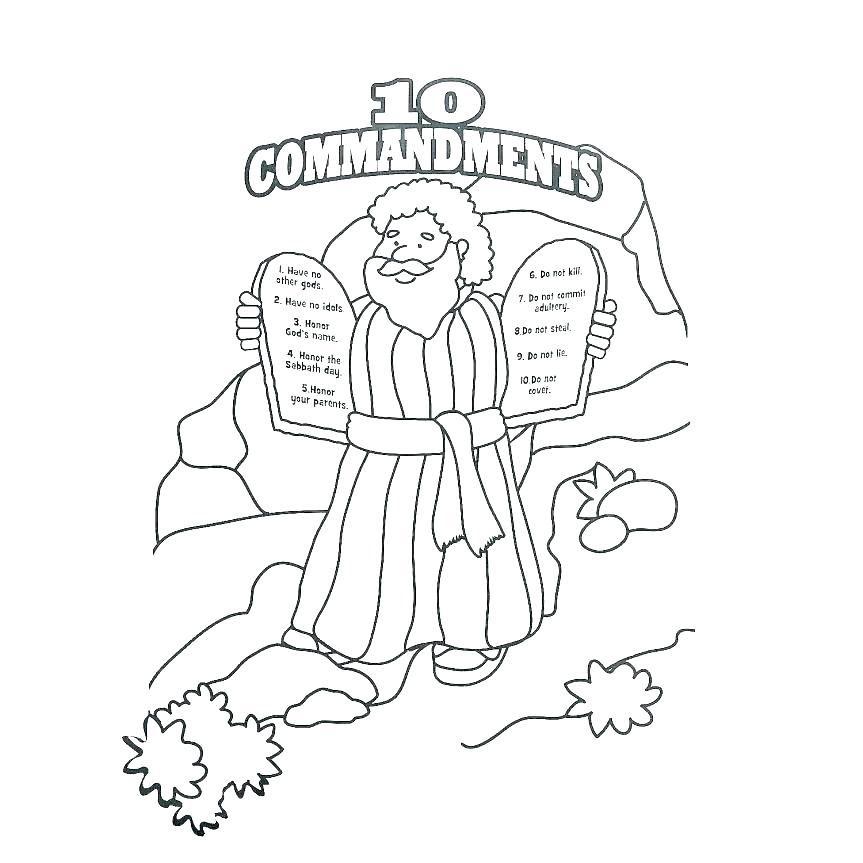 Ten Commandments Coloring Pages Best Coloring Pages For Kids Coloring Pages Bible Coloring Pages Preschool Coloring Pages