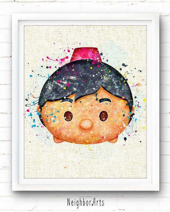 Disney Aladdin Print Tsum Tsum Print Watercolor Painting