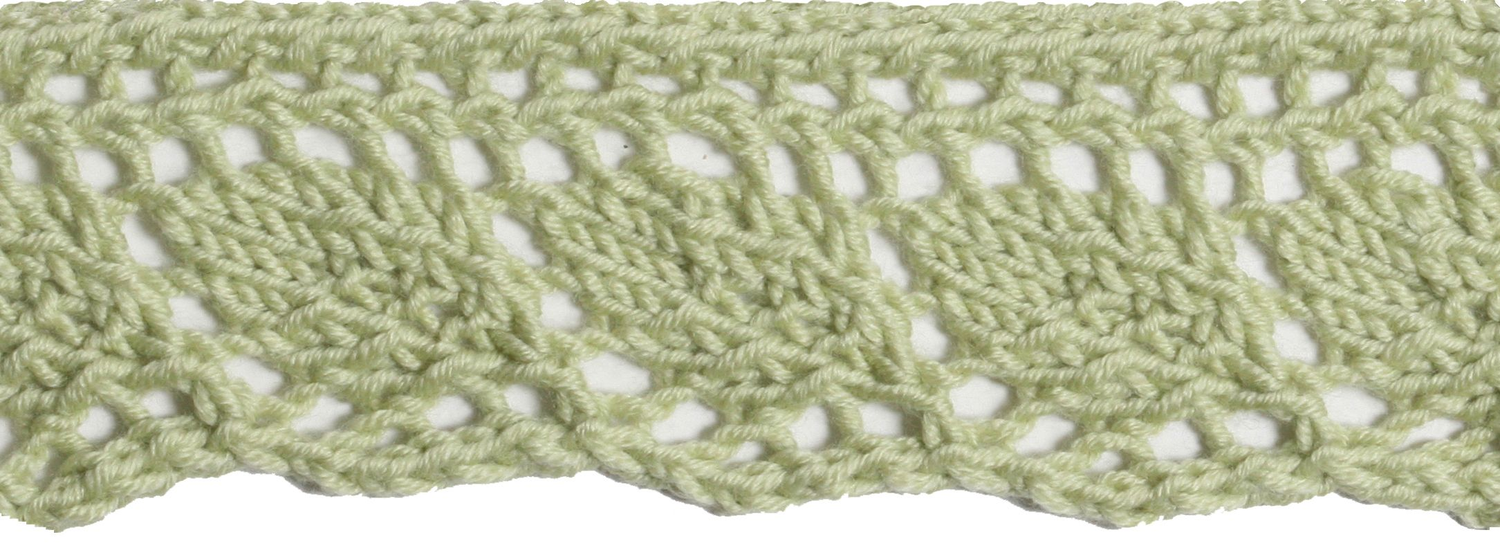 Lacy Leaf Edging (With images) | Knitting stitches, Knit ...