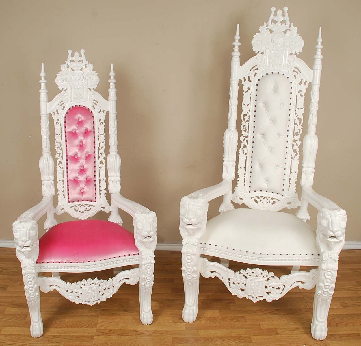 795 for the pink velvet queen lion throne chair the set