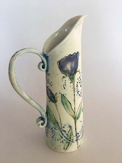 Christine Williams - Ceramic Artist - jugs motif #ceramicart