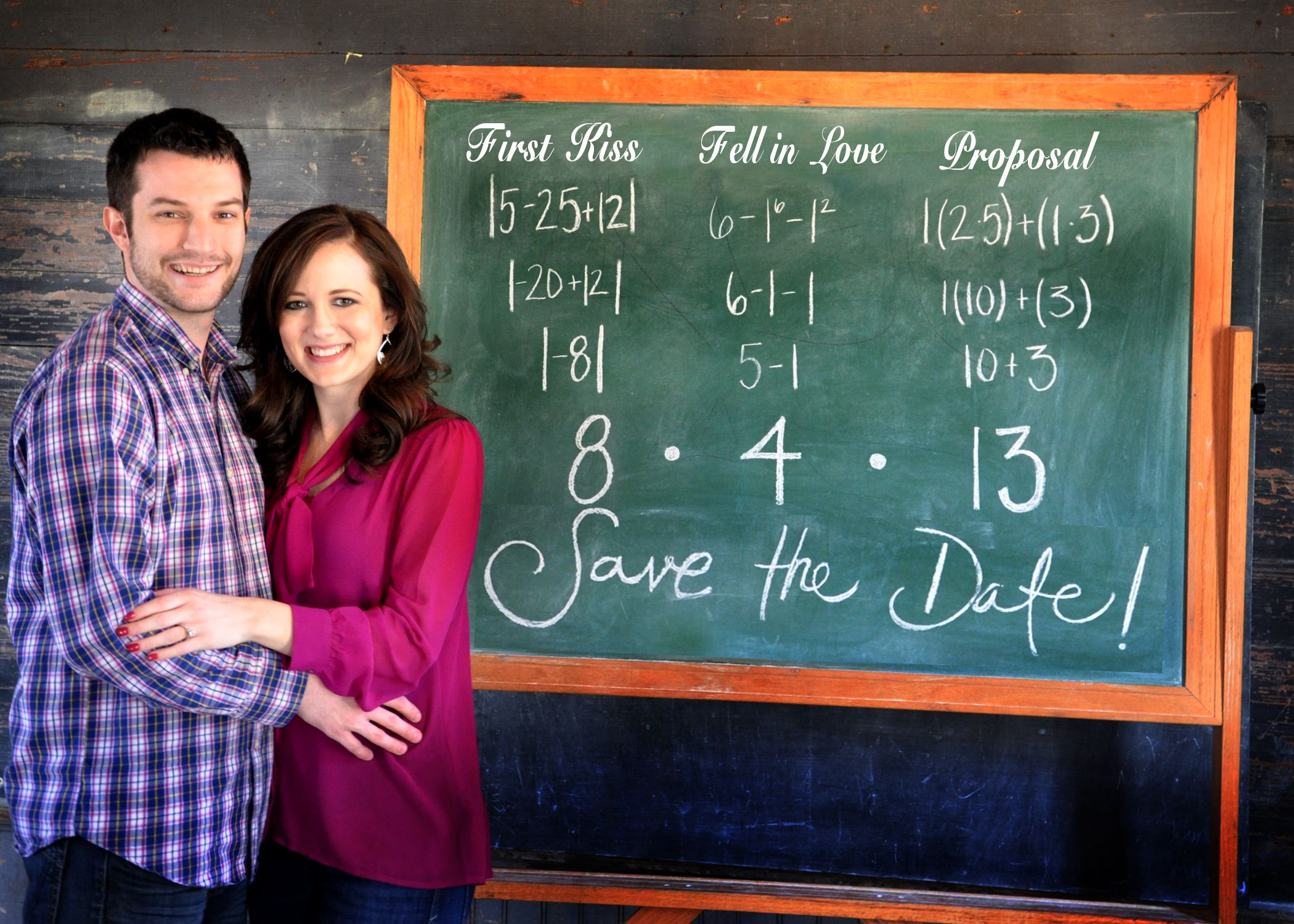 Math Teacher Save The Date. The Numbers At The Top