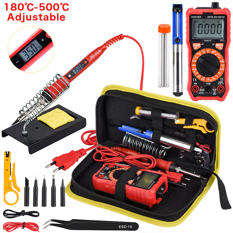 Kit de soldador JCD temperatura ajustable 220V 80W LCD soldadura herramientas