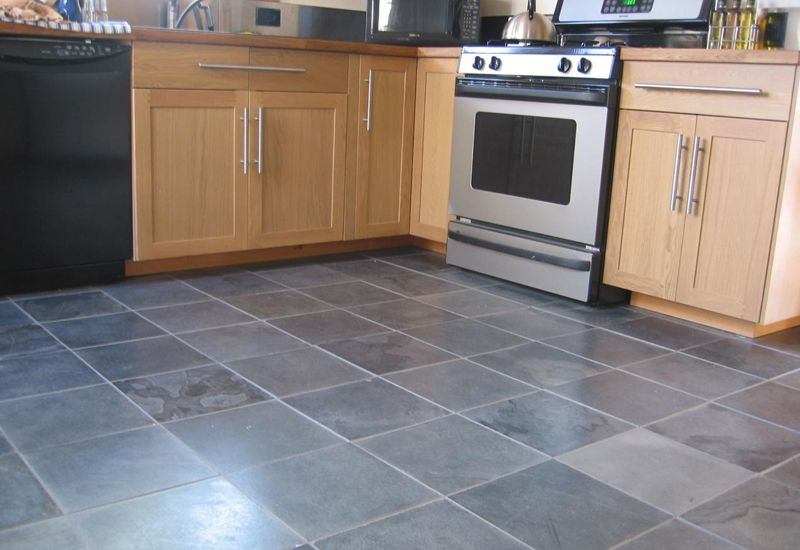 Linoleum flooring patterns kitchen flooring contractors for Grey kitchen floor tiles ideas