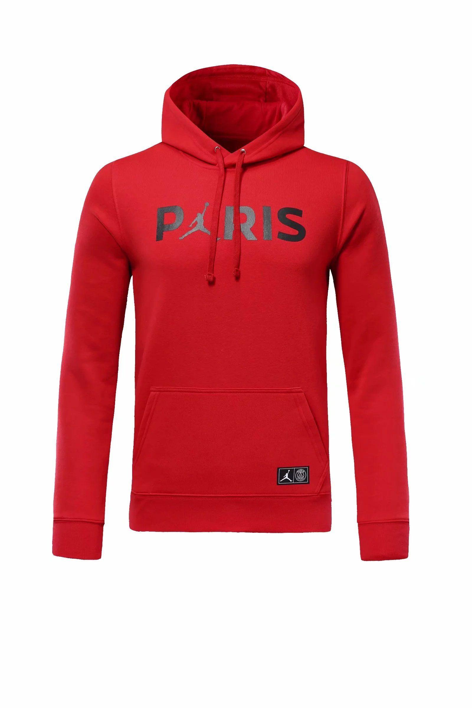 PSG 18 19 Jordan Red Sweatshirt   Products   Psg, Jordans, Jordan red 4bcee60c4f0a