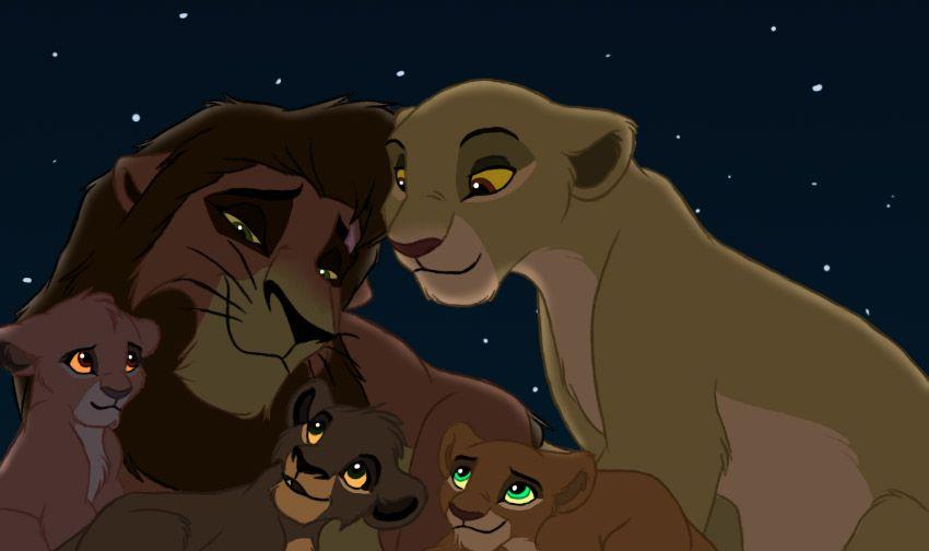 The Lion King Kiara And Kovu S Family Cubs Leah Girl Koda Boy Asha Girl Lion King Fan Art Lion King Art Lion King Movie
