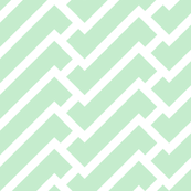 fretwork in mint fabric by domesticate for sale on Spoonflower $18/yard
