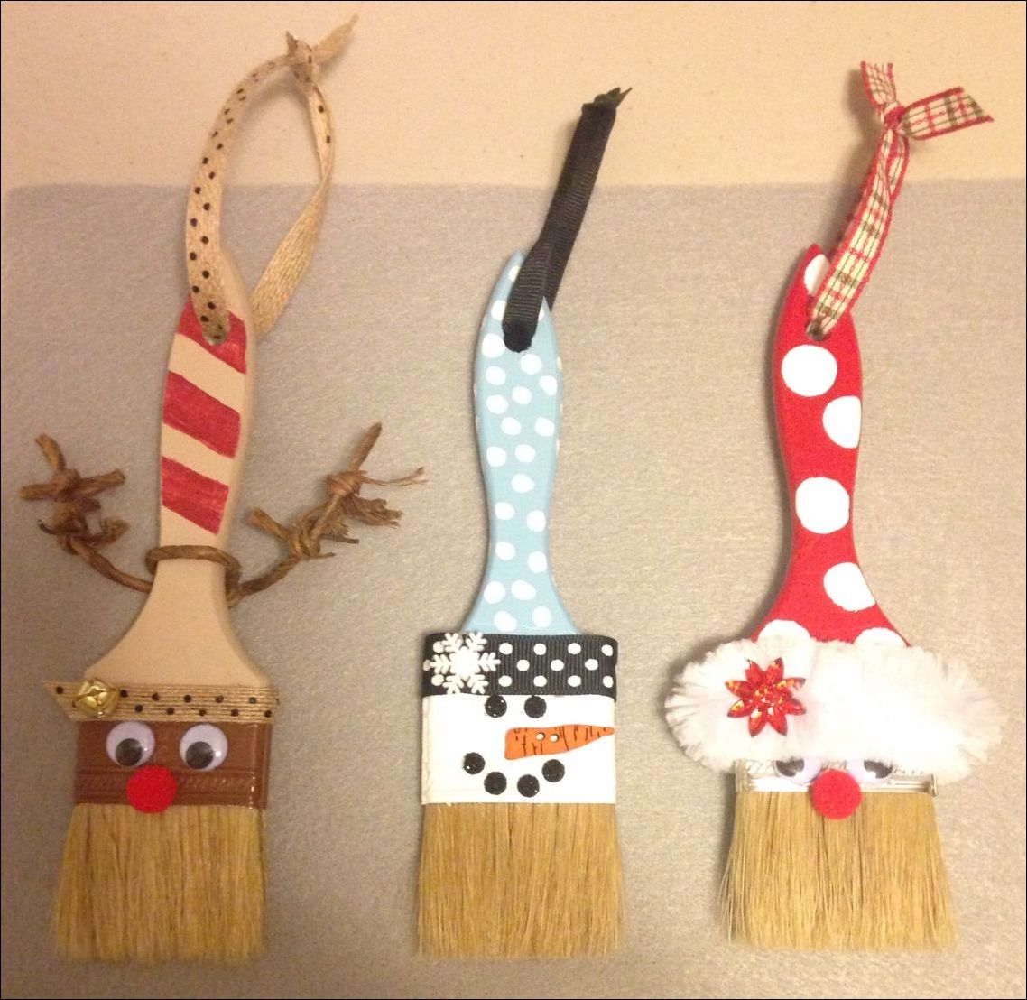 Pinterest Weihnachten Krippe Holiday Paint Brushes Diy Christmas Ornaments Christmas