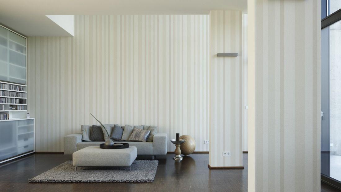 Schöner Wohnen Tapete 227911; simuliert auf der Wand House - wohnzimmer tapeten braun beige