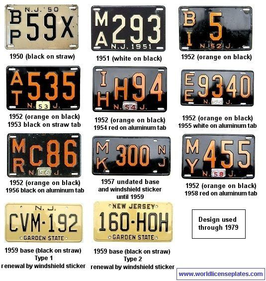 Nj License Plates Through The Years Jersey Girl New Jersey