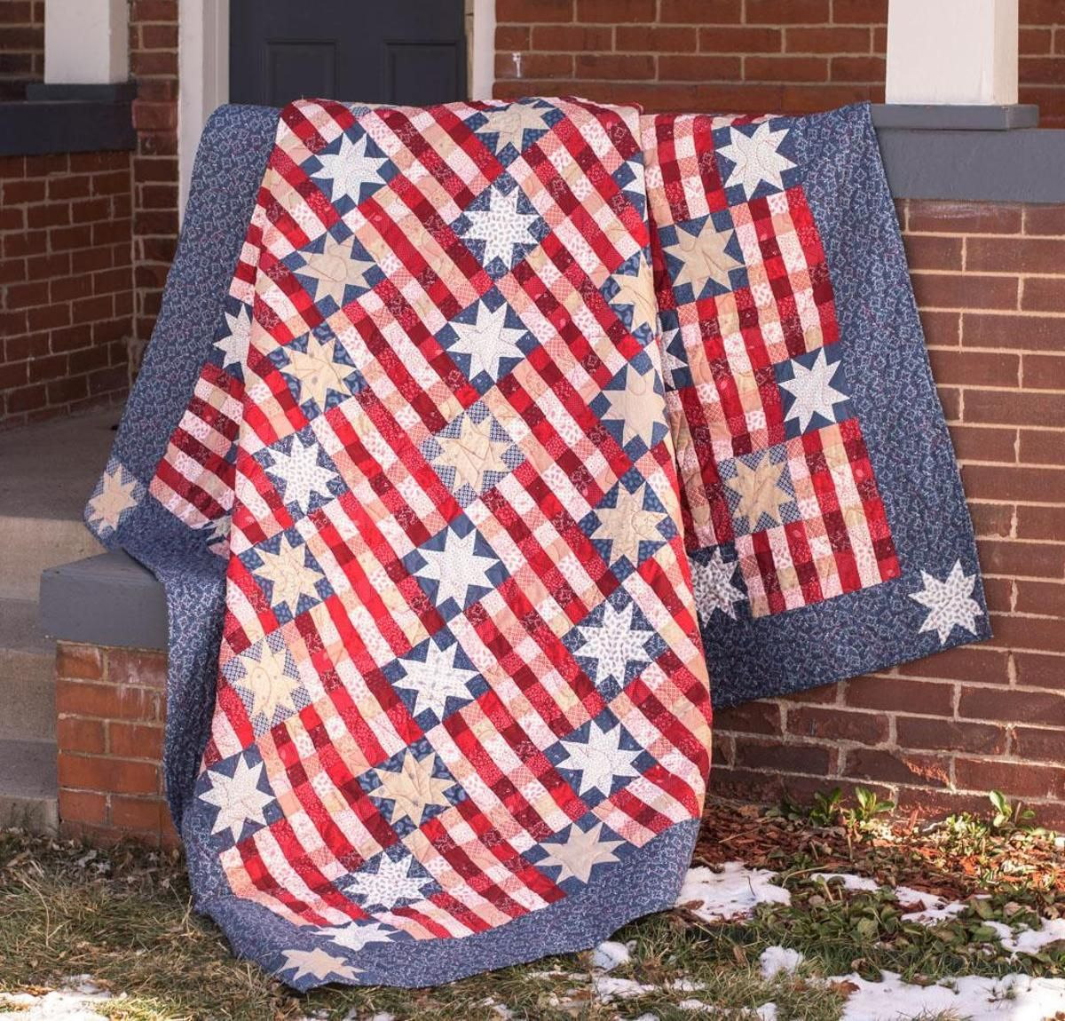 Stars and Stripes Quilt Kit   Striped quilt, Queen size quilt and ... : top quilting blogs - Adamdwight.com