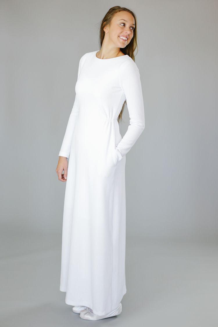 Marilyn Temple Dress Lds Temple Dress Modest White Dress [ 1125 x 750 Pixel ]
