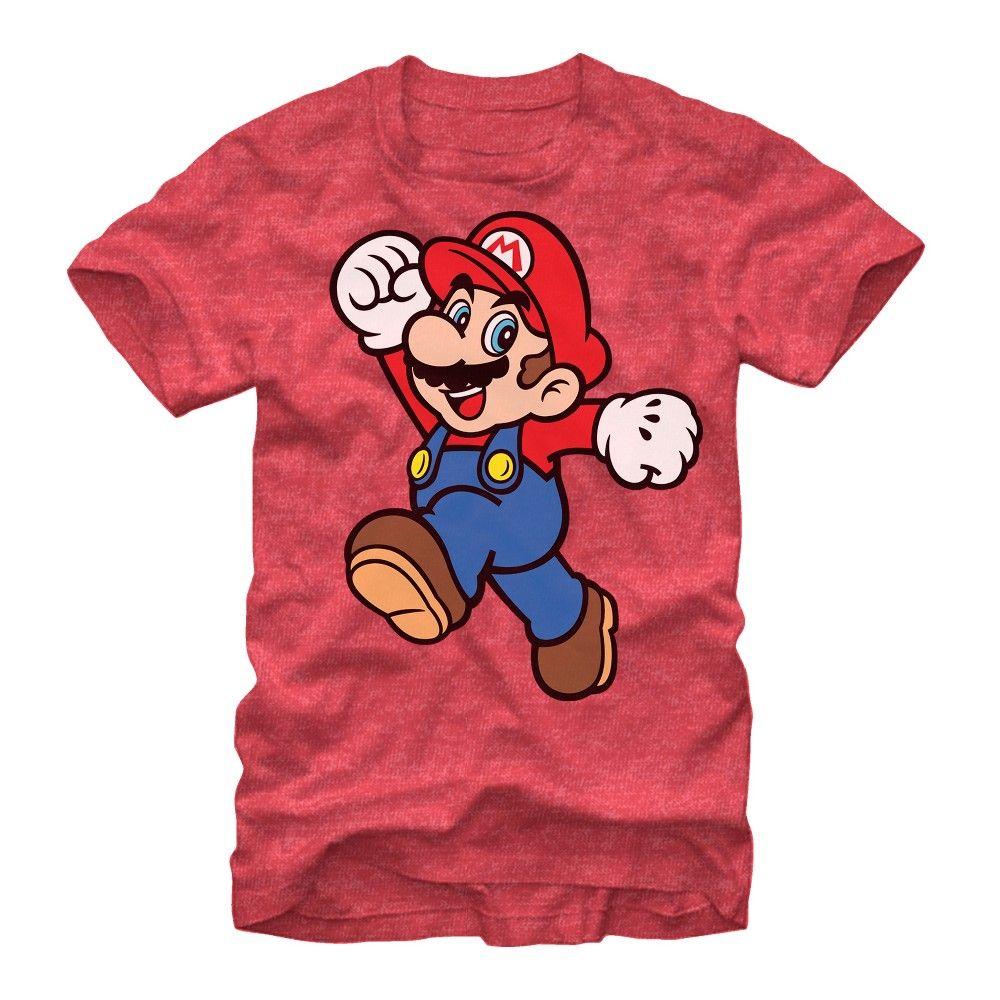 Fifth Sun Mens Nintendo Slim Fit Short Sleeve Crew Graphic Tee Red Medium T Shirt Mario Mario Bros [ 1000 x 1000 Pixel ]