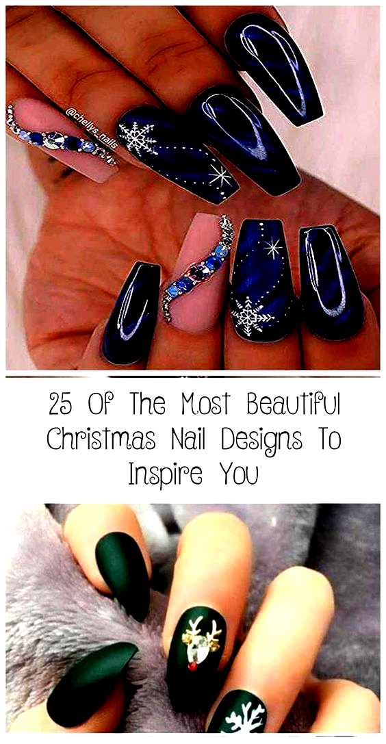 32 Easy Holiday Christmas Nail Designs With Snowflakes Howlives,  #Christmas #Designs #Easy #Holiday #Howlives #Nail #Snowflakes