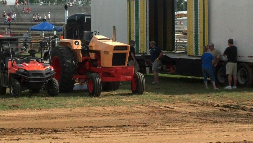 Case 1070 pulling tractor at Bartholomew county fair Indiana. I believe the owner is from Elkhart