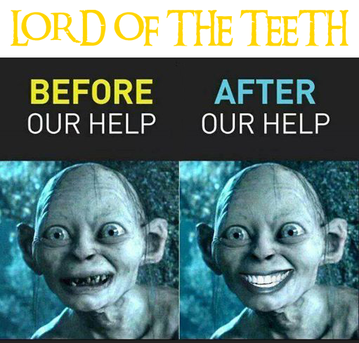 Look After Your Precious Teeth Gollum Orthodontics