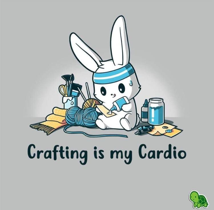 Crafting Is My Cardio Cute Animal Quotes Cute Cartoon Cute Animal Drawings