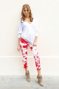 """Made in Chelsea""""  Millie Mackintosh wore an on-trend tie dye effect jeans by Hudson"""