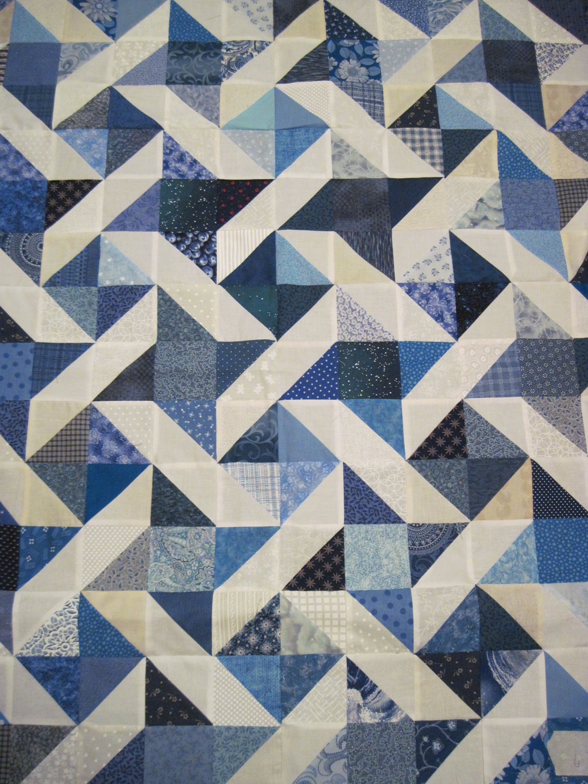 New blue and white quilt