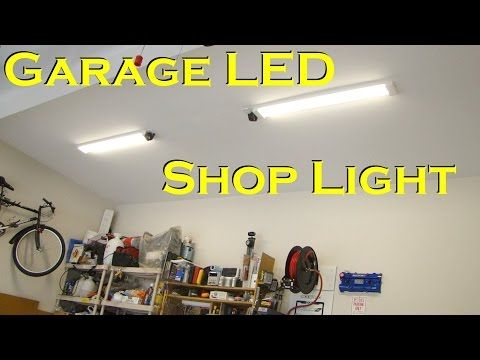 Garage Led Light Fixture Replaces Fluorescent