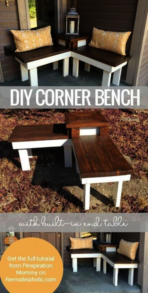 best country decor ideas for your porch diy corner bench with rh pinterest es
