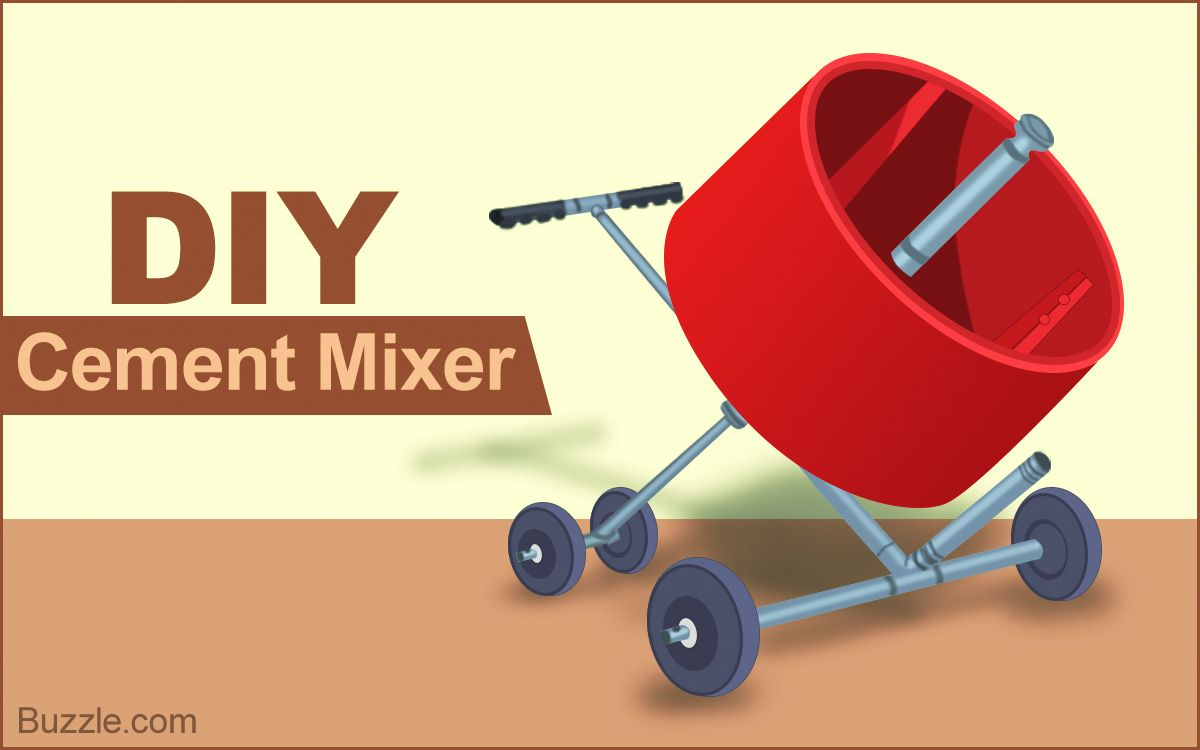 An Exact Construction Outline To Build A Homemade Cement Mixer Is Presented In This Article The Mixer Can Be Very Handy For Cement Mixers Concrete Diy Cement