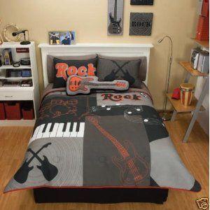 Image Detail For Guitar Bedding For Boys Create A Rock N Roll Bedroom Bedroom Bedding Sets Music Themed Bedroom Comforter Bedding Sets