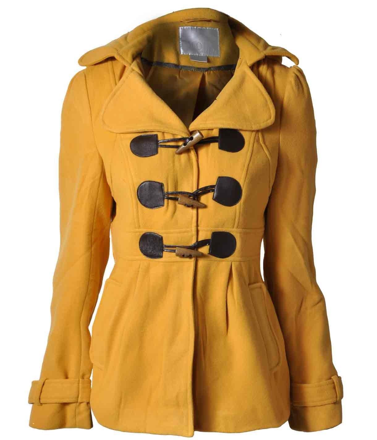 Abrigos cortos color mostaza