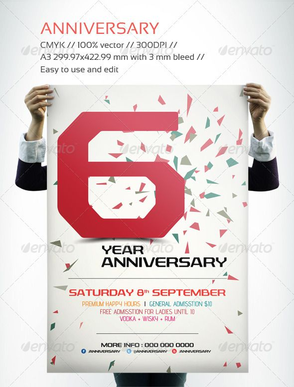 Anniversary Flyer  Flyer Template Anniversaries And Club Flyers