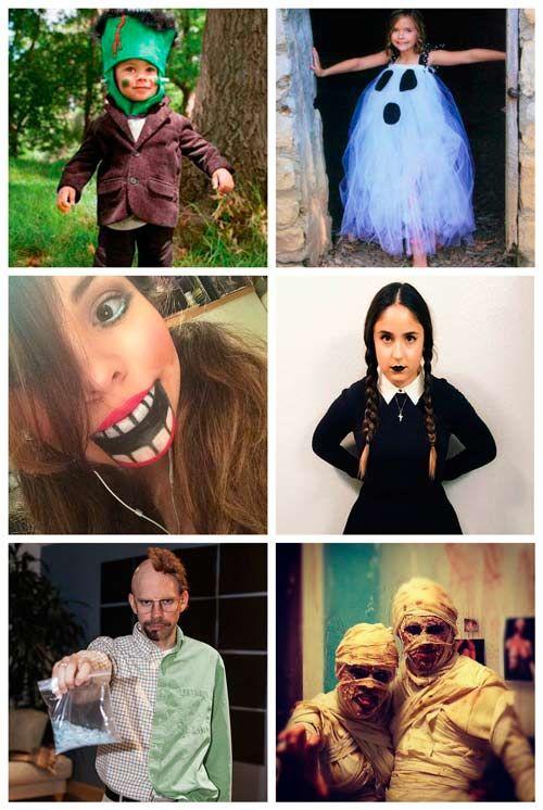 23 disfraces caseros para Halloween para nios y adultos