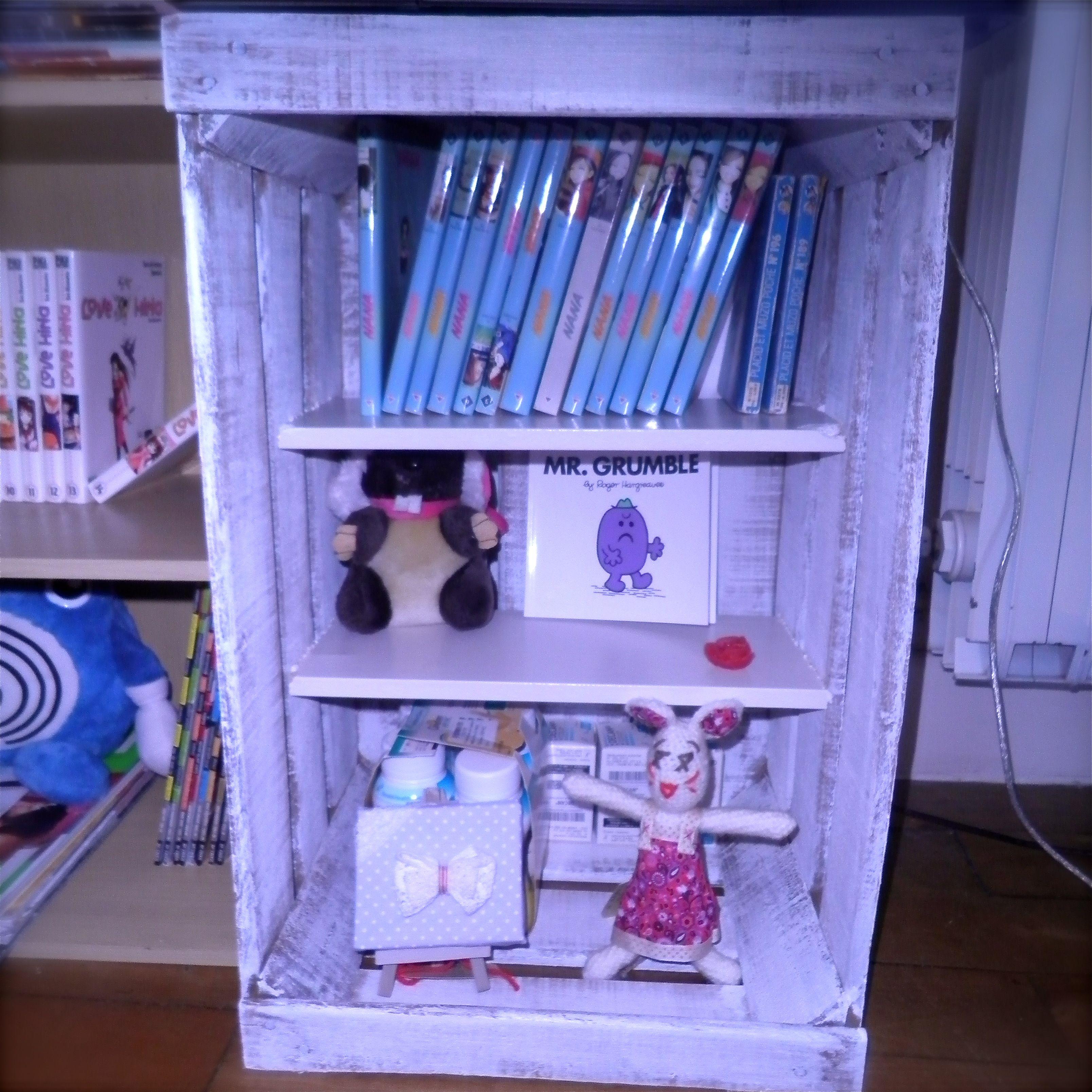Fabriquer Un Meuble Avec Une Cagette #DIY #bricolage #recyclage #home # Rangement