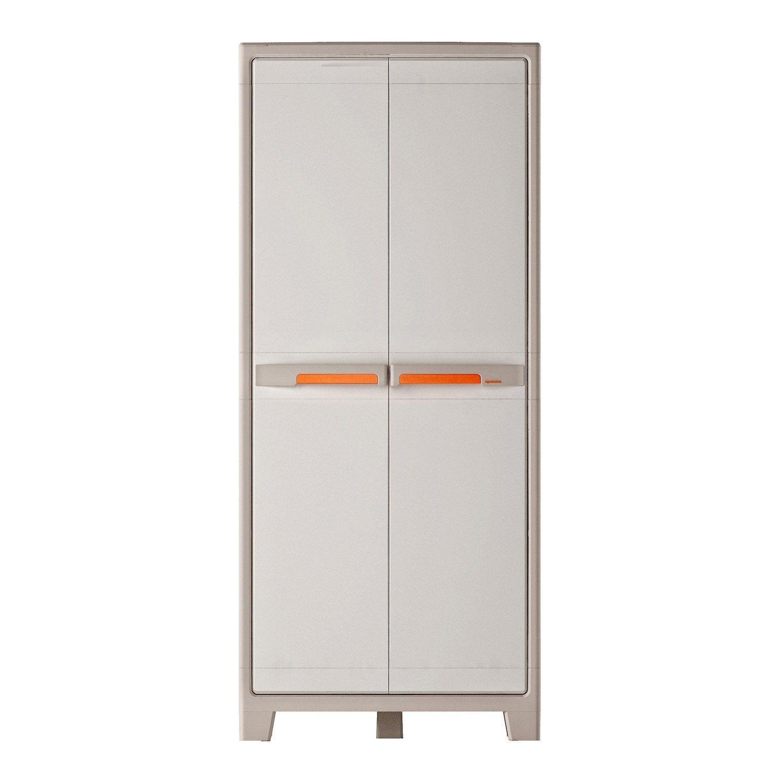Armoire Haute Plastique 4 Etageres Spaceo Premium L 80 X H 182 X P 44 Cm Armoire Armoire Idees Decoration Armoire