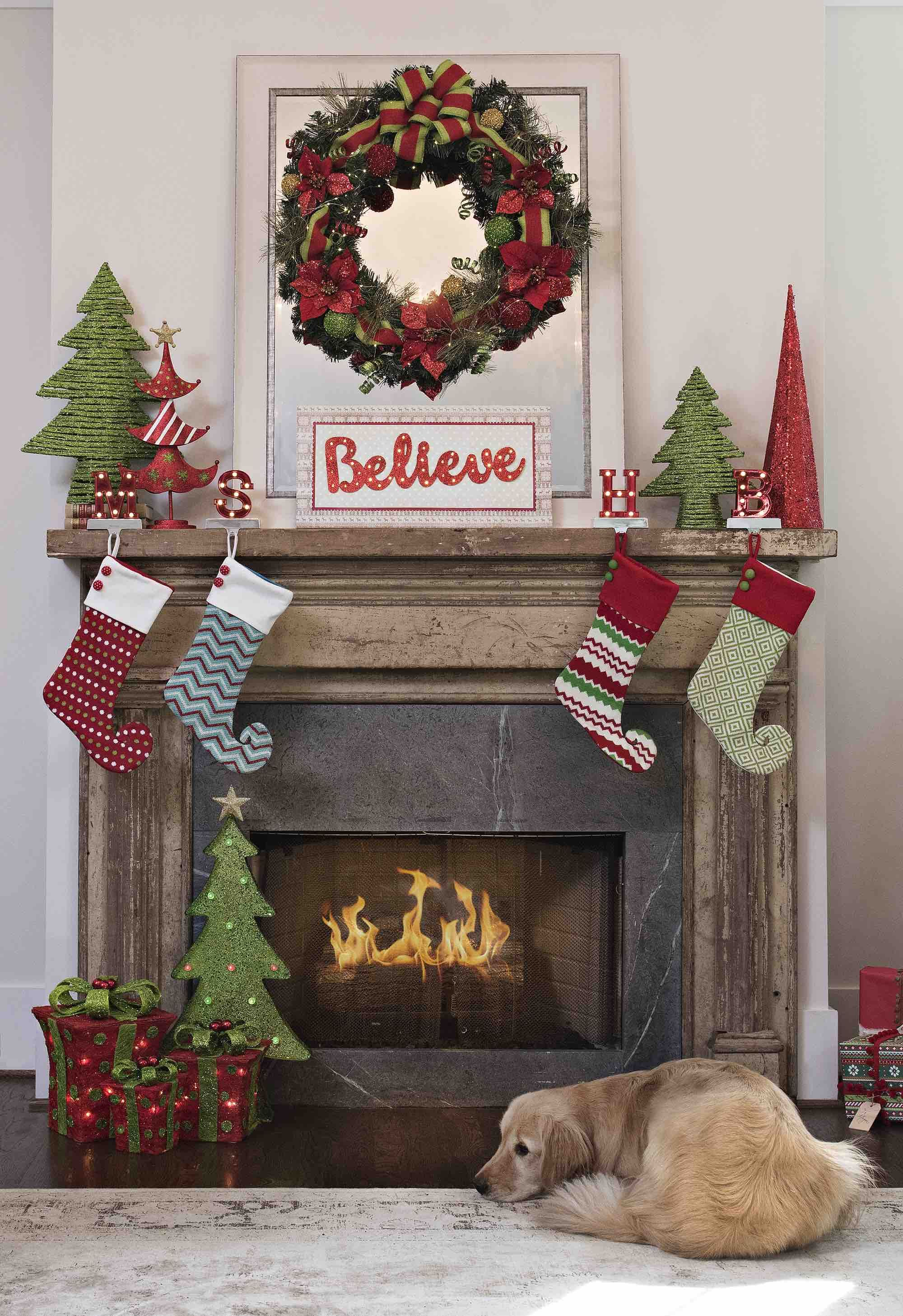 Don\'t let stockings be the only holiday decorations on your mantel ...