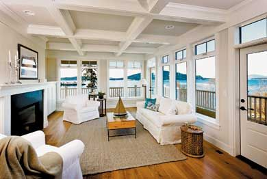 Bon Great Corner Living Room With Ocean View. Waters Edge   Premier Coastal  Homes At San Juan Passage