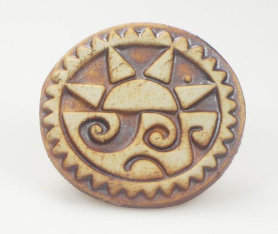 Aztec Tribal Sun Spirit  Key Ring Charm  Fridge by EspritMystique, $15.50