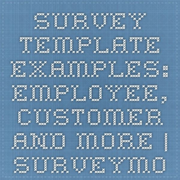 Survey Template Examples Employee Customer And More