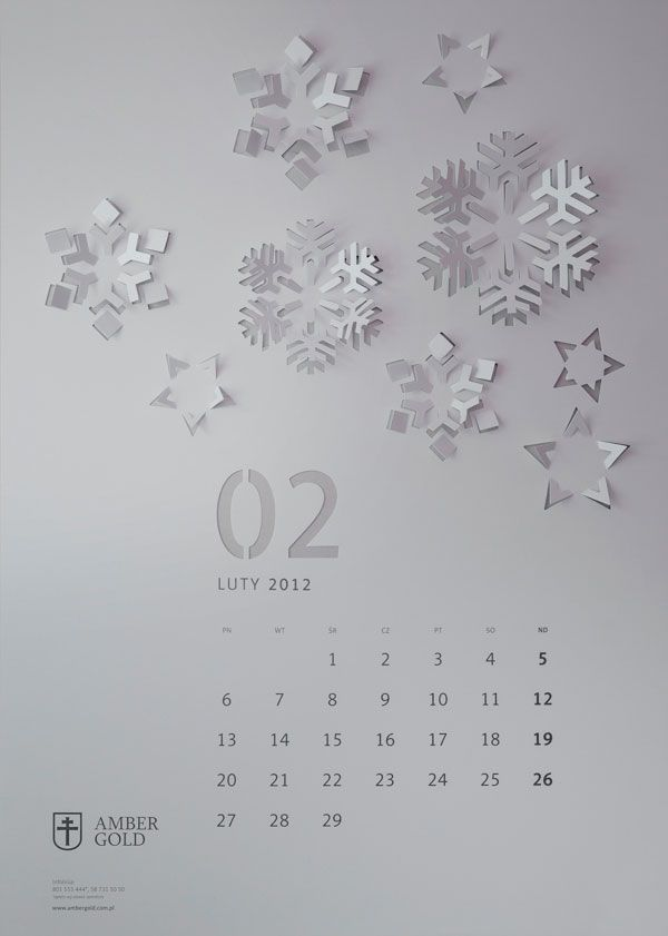 32 Super Creative Calendar Designs For 2015 Bashooka Calendar Design Calender Design Creative Calendar