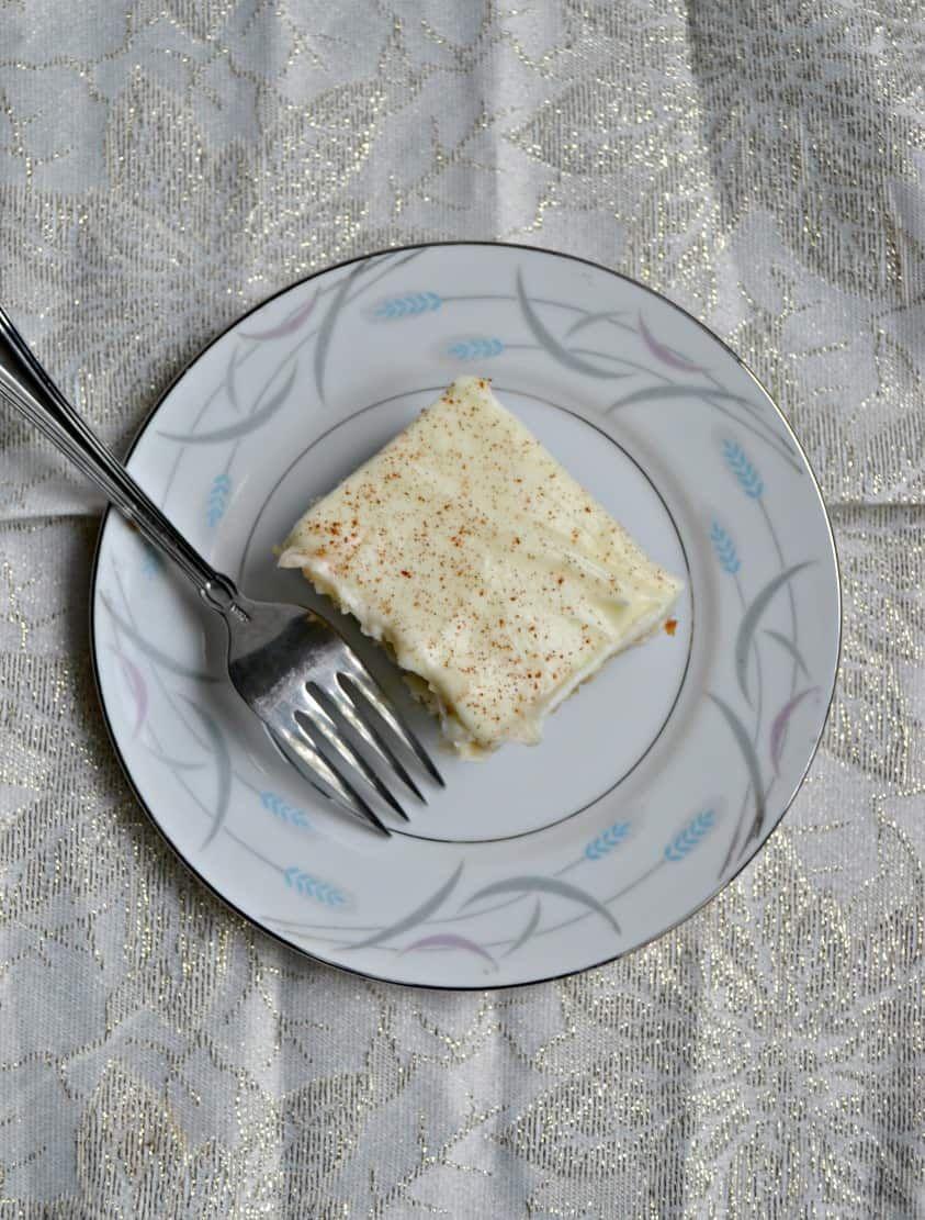 Cinnamon Roll Poke Cake - Hezzi-D's Books and Cooks