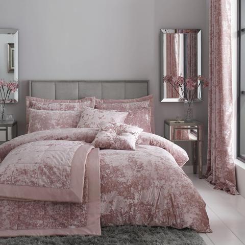 Crushed Velvet Luxury Blush Pink Duvet Cover Set Pink Duvet Cover Velvet Bedding Sets Pink Duvet