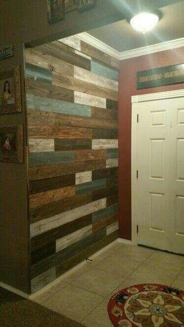Pin de Tanya Prevost en pallet decor Pinterest Barras de madera - decoracion con madera en paredes