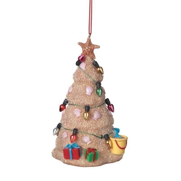 Hawaiian Christmas Tree Topper: Beach Ocean Sand Christmas Tree Christmas Ornament
