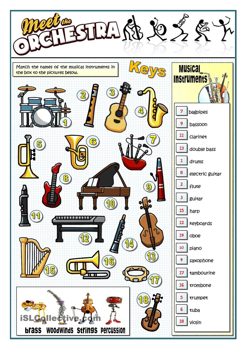 Worksheets Orchestra Worksheets meet the orchestra hinh anh pinterest worksheets orchestra